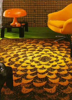 wilde jahre in orange und braun: farbimpulse - Teppich Gelb Braun