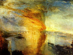 Turner: Brand des Westminster-Palastes. Repro: public domain